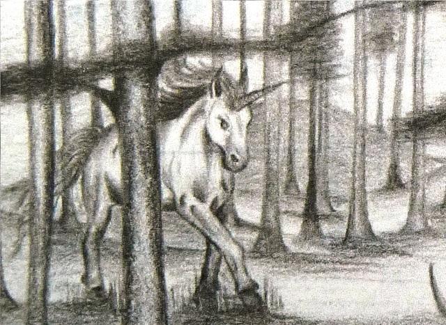 Bild12: Einhorn im Geisterwald